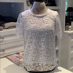 Sals fifth avenue white crochet top